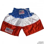 Boxing Trunks, Fitness, Training Shorts - Blue, White, Red (H)