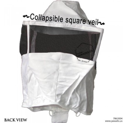 Replacement Bee Suit / Jacket Square Hood Veil for Adults - White - BOGO