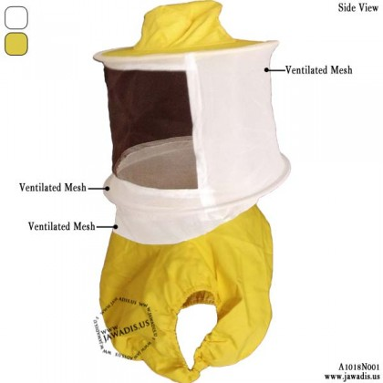 Adult Yellow Sheriff Style Beekeeper Veil Vest and Farmer Veil