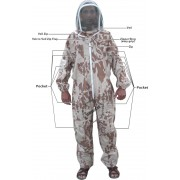 Adult Full Bee Suit with Veil - Camo Brown - Size [M] only - Christmas Gift