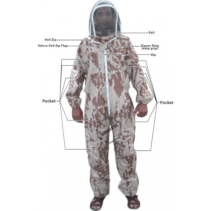 Adult Desert Camouflage Beekeepers Bee Suit - Christmas Gift