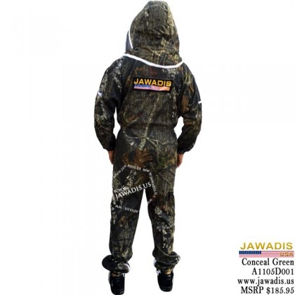 Camouflage Conceal Green Jawadis Adult Fence Veil Beekeeping Suit