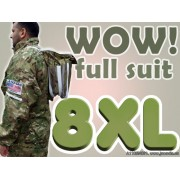8XL Adult Full Bee Suit with Fence Veil - Camouflage Green - FREE Beekeeping Gloves