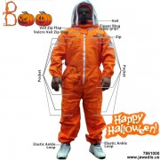 Adult Orange Pest Control Beekeepers Suit with Fence Style Veil - Christmas Gift