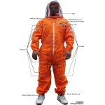 Adult Full Bee Suit with Fence Style Veil - Orange