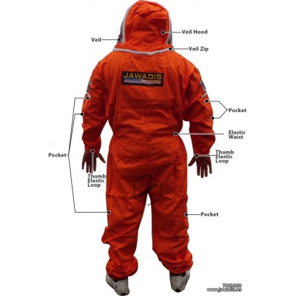 Adult Orange Pest Control Beekeepers Suit with Fence Style Veil - Christmas Gift Ideas