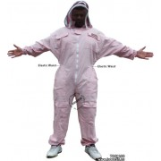 Adult Full Bee Suit with Fence Style Veil - Pink/Fuchsia