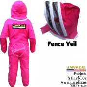 Jawadis Adult Fuchsia Beekeeping Bee Suit with Fence Veil