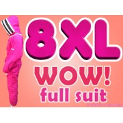 8XL Adult Full Bee Suit with Fence Style Veil - Fuchsia