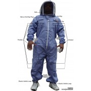 Purple Adult Full Beekeepers Bee Suit with Fence Veil - FREE Beekeeping Gloves