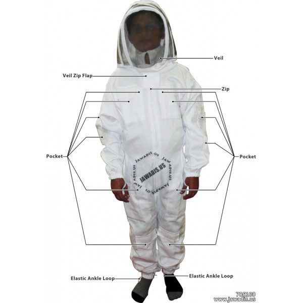 Child/'s Beekeeping Suit with Fencing Veil 2XS