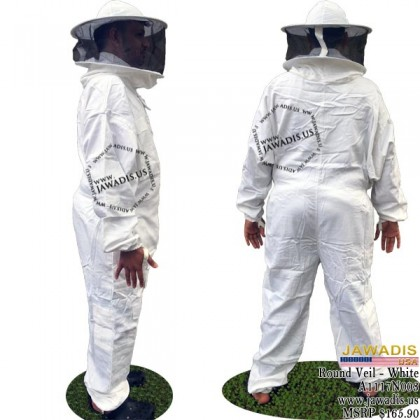 Children's White Full Bee Suit with Round Style Veil