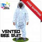 Jawadis Adult Off White Mighty Ultrabreeze Bee Suit & Fence Veil