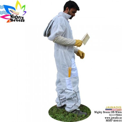 8XL Jawadis Off-White Ventilated Best Bee Suit & Vented Fence Veil