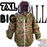 7XL Camouflage Green 100% Cotton Bee Jacket with Fence Veil and FREE Bee Gloves
