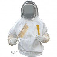 Kids Bee Jacket with Fence Veil - White