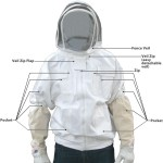 Adult Bee Jacket with Fence Veil - White