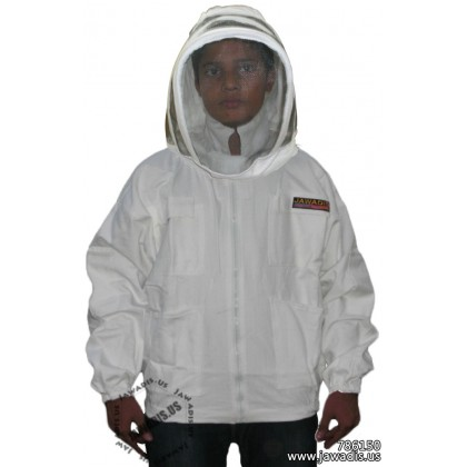 Kids Bee Jacket with Fence Veil - White - Kids FREE Beekeeper Gloves