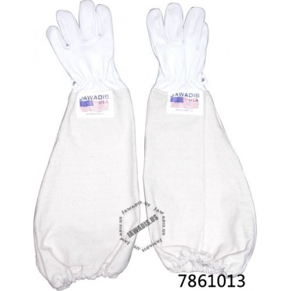 Adult 100% Cowhide Leather Pest Control Bee Gloves - White