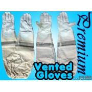 Adult Premium Ventilated Cowhide Bee Gloves - White - Christmas Gift Ideas