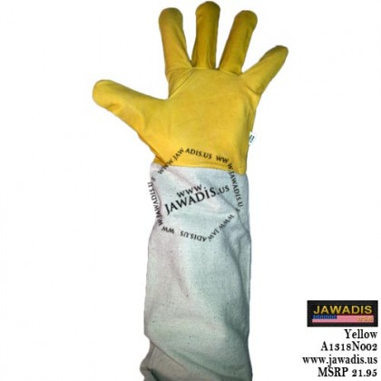 Adult 100% Cowhide Leather Bee Gloves - Yellow - Size S - Christmas Gift Ideas