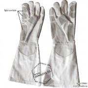 Adult White Small Animal Handling Gloves, One Size L/XL
