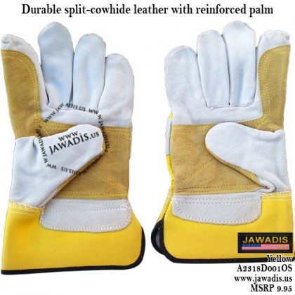 Shelter Men's Leather Double Palm Work Gloves