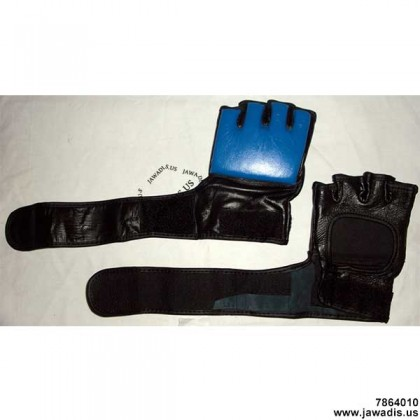 Men's Blue/Black Fightwear MMA Wrestling Grapple Gear Mitts