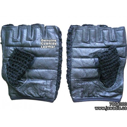 Best Workout Cheap Leather Gloves Mens Mesh Back Genuine Leather