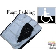 Wheelchair Genuine Leather Women's Mesh-back Lightweight Gloves - Black & White