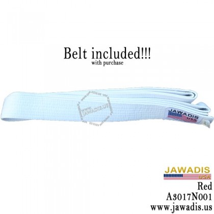 Jawadis 7-oz Karate, Lightweight Blue Judo Gi with White Belt