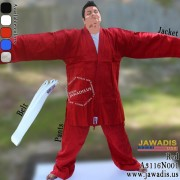 Jawadis 7-oz Karate, Lightweight Red Judo Gi Free White Belt
