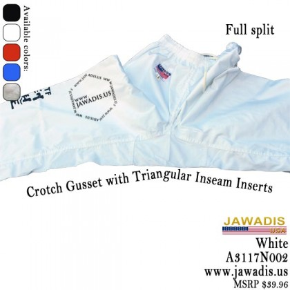 Jawadis 7-oz Karate, ITF  Taekwondo Uniform Gi with Belt - White