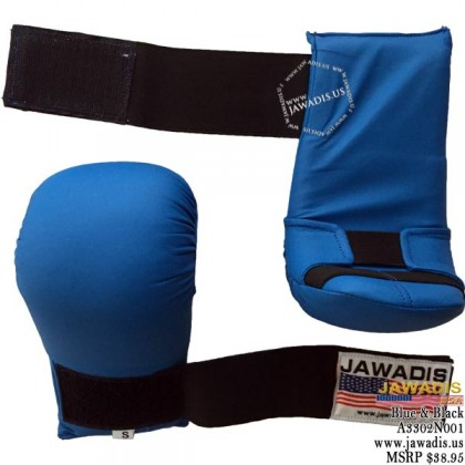 Jawadis Best Karate Gloves for Sparring Gear Mitts Boxing - Blue