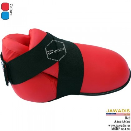 Jawadis Red Kickboxing MMA Sparring Boots Boxing Karate Foot Gear