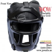 Jawadis Black Best Head Guard Helmet Headgear Protection for Boxing Size M