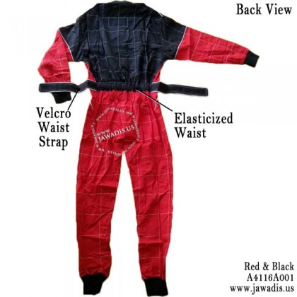 Adult Karting Race Suits and FREE Carrying Case - Red and Black, Size M