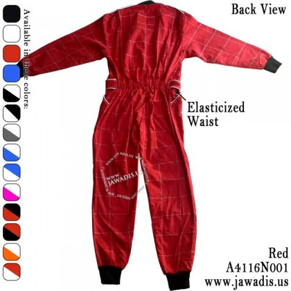 Adult GoKarting, Race Car Suits for Men, FREE Carrying Case - Red
