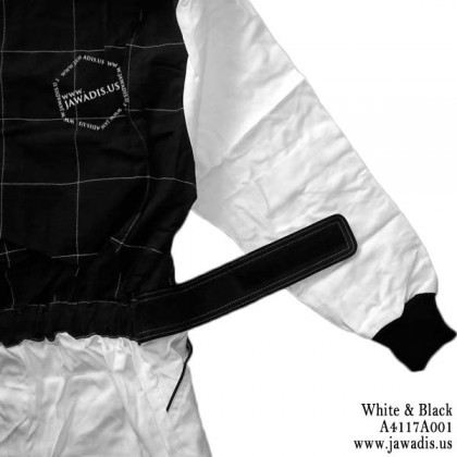 Adult Go Kart Racing Suit & FREE Carrying Case - White & Black