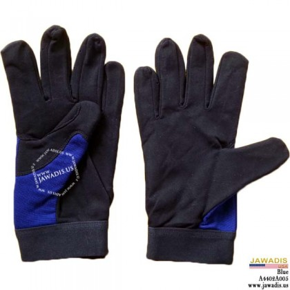 Reinforced Fingernail Guards Multipurpose Mechanic Gloves Blue - Size L