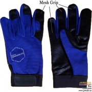Multipurpose Best Auto Mechanic Grip Gloves Cheap Blue - Size L