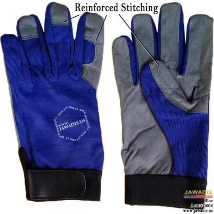 Reinforced Stitch, Multipurpose, Gardening, Mechanic Gloves Cheap Blue - Size L
