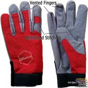 Reinforced Stitch, Multipurpose Best Vented Mechanic Gloves Red