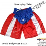 Puerto Rico Boxing Trunks Shorts Best Boxing Trainers Blue Waist