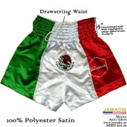 Mexico Boxing Shorts Trunks for Men Embroidered Flag