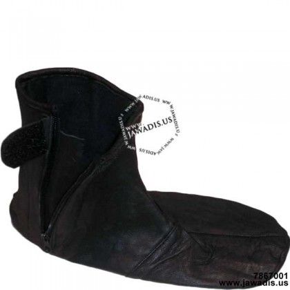 Adult Black Lambskin Leather Socks Khuff Khuffain Zipper Khuf-fain