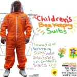 Children's Orange Beekeepers Bee Suit with Fence Veil