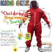 Kids Full Bee Suit with Fence Style Veil - Red