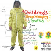 Children's Beekeeping Bee Suit with Fence Style Veil - Yellow - Christmas Gift Ideas