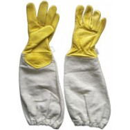 Kids's 100% Cowhide Leather Bee Gloves - Yellow